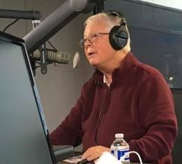 Dan Wooding recording Front Page Radio at KWVE smaller