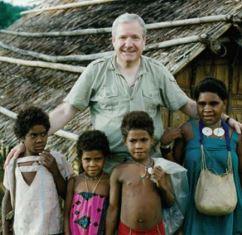 Dick Eastman in a village