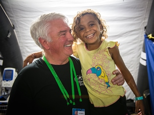 Don Stephens with patient