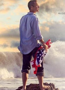 Kirk Cameron with American flag