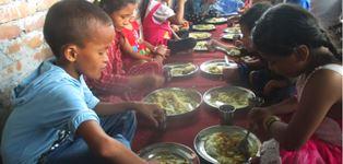 Mealtime at Bridge of Hope School