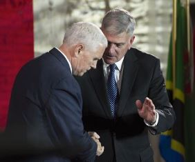 Pence with Franklin Graham