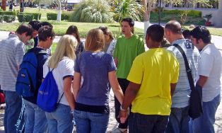 Student prayer meeting