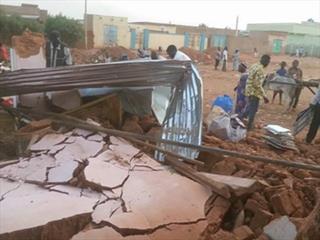mi Burned down Lutheran church in Omdurman Sudan 05 03 2017