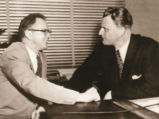 Bob Finley with Billy Graham