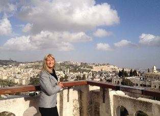 Cheryl overlooking Mount of Olives