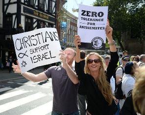 Christians protest anti semitism smaller