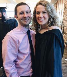Lauren with her husband Adam