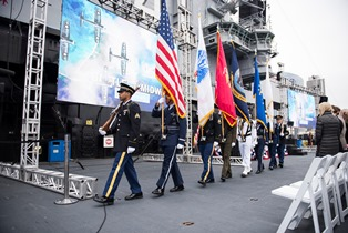 Midway color guard