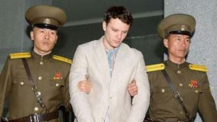 Otto Warmbier being arrested