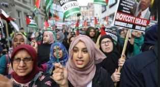 Pro Palestinian march in London