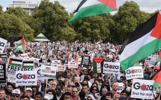 Pro Palestinian event in Hyde Park