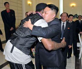 Rodman hungs Kim Jong Un