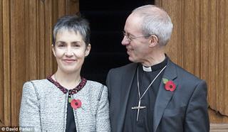 mi Caroline Welby with her husband Archbishop Justin Welby 06 02 2017