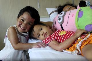 mi Trinity with 2 year old Anita Sihotang. 06 25 2017