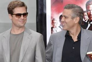 Brad Pitt and George Clooney smaller