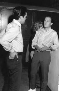 Elvis chatting with Pat Boone