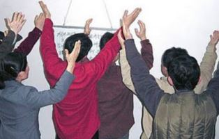 North Korean Christians worshiping the Lord smaller