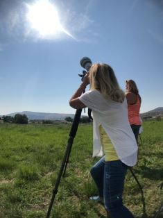 Bonnie photographing eclipse