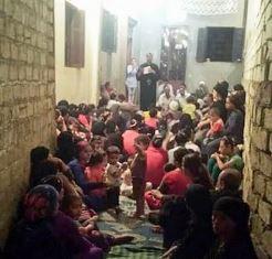 Copts in alleyway