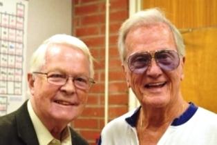 Dan Wooding with Pat Boone at Biola