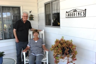 Dan and Norma outside home