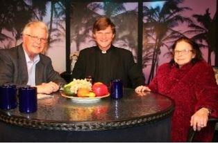 Dan with Jim and Verna Linzey on TV