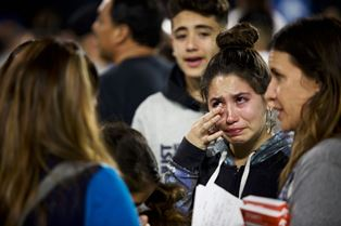 Girl crying at Harvest