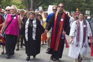Interfaith marchers in Charlottesville