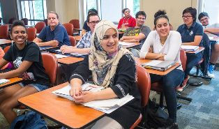 International students in classroom