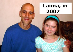 Jason with Laima in 2007