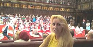 Lady Laura at State Opening of Parliament