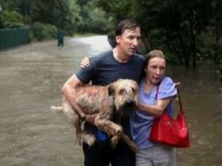 Man wife and dog in storm smaller