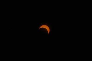 Partial eclipse smaller