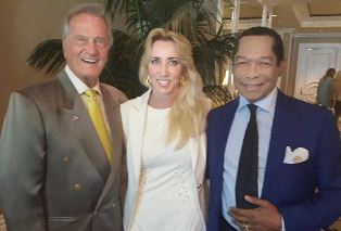 Pat Boone with Lady and Lord Taylor use