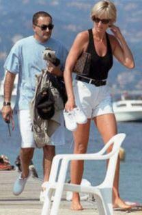 Princess Diana with Dodi