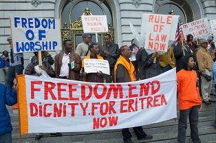 Protestors against Eritrea