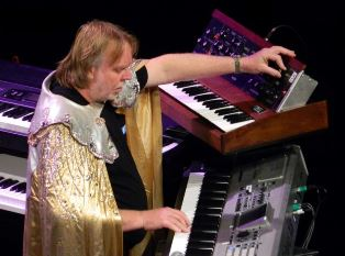 Rick Wakeman playing keyboards smaller