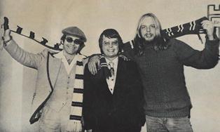 Secret picture Elton John Dan Wooding and Rick Wakeman smaller