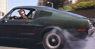 Steve McQueen driving the Bullitt car smaller