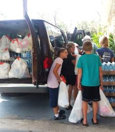Church giving aid after Irma