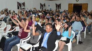 Church service in El Salvador