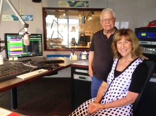 Dan Wooding with Bonnie Brown at KWVE 2