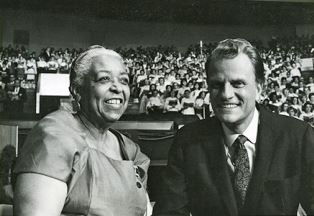 Ethel Walters with Billy Graham
