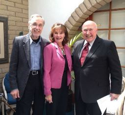 Hal and Sharon Fischer pictured with Pastor Chuck