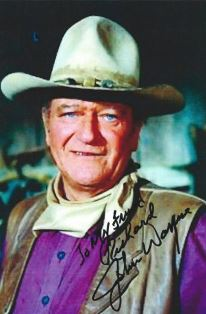 Signed photo of John Wayne