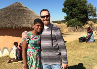 Steve Rees with Swazi girl