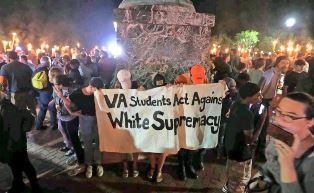 Students protest against white supremists smaller