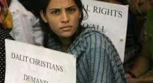A Dalit woman smaller