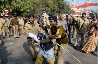 Christians protest in New Dehli smaller